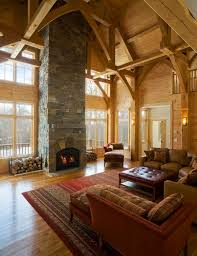 room with high ceiling and arched windows view
