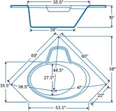 corner bathtubs dimensions | Corner Bathtub Dimensions Corner Bathtub  Dimensions