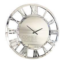 80cm mirrored round wall clock pre order