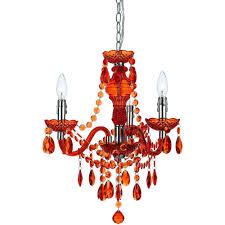 fulton 3 light orange mini chandelier