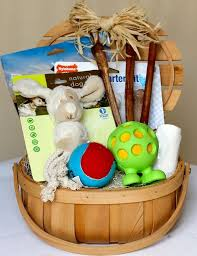 how cute is this curated dog toy basket perfect for a neighbor or friend gift