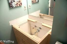 dreaded cost to install bathroom vanity