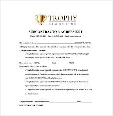 Subcontractor Agreement Format Subcontractors Agreement Template Toptier Business