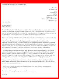 Example Of Cover Letter For Retail Job Best Ideas Of Examples Of Cover Letter For A Retail Job Shop