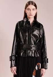 by malene birger carmaya faux leather jacket women clothing jackets black