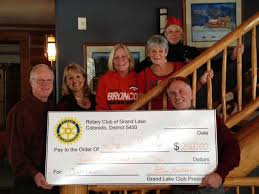 Grand Lake Rotary presents check to Grand Angels | SkyHiNews.com