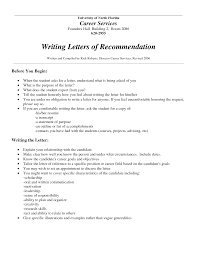letter of recommendation format for job letter format  letter