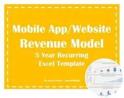 Revenue Model Template Mobile App Financial Model Templates Excel Downloads Eloquens