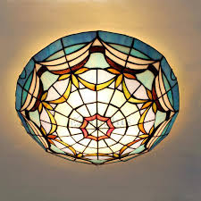 terranean ceiling light cover stained glass