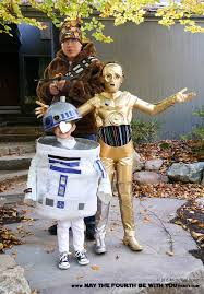 diy c3po and r2d2 costumes with chewbacca check out all our other star wars