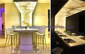 professional natural backlit onyx kitchen countertops