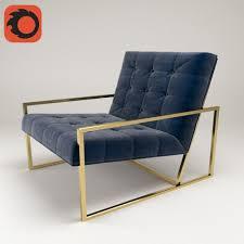goldfinger chair by jonathan adler 3d 3d model max fbx 1