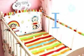 rainbow baby bedding set crib pastel sets