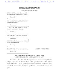 UNITED STATES DISTRICT COURT SOUTHERN DISTRICT OF FLORIDA CASE NO.  0:13-cv-61747-MGC KURT S. SOTO, an individual on behalf of h
