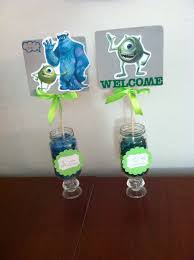 Monster Inc Baby Shower Decorations Mms Centerpieces Monster Inc Theme Baby Shower Pinterest