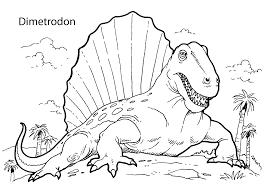 Dimetrodon Dinosaur Coloring Pages For Kids