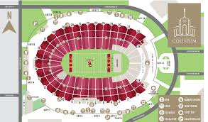 La Coliseum Seating Chart Stadium Parking Guides