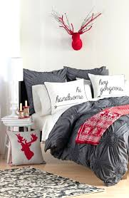 full size of red white and gray bedroom set so cute for the holidays grey textured dark grey textured duvet cover
