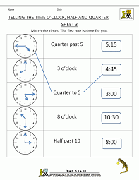 Time worksheets for grade 6 second math telling the oclock half ...