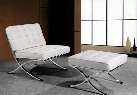 divani casa bellatrix  modern white leather x leg chair