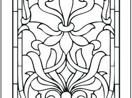 Stained Glass Coloring Page Picture Coloring Page Stained Glass
