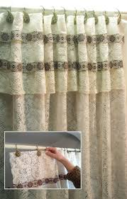 how to make shower curtain with absolutely no sewing