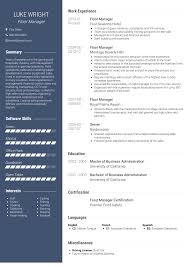 Supermarket Manager Resumes Floor Manager Resume Samples And Templates Visualcv