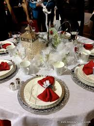red and silver table decorations. Christmas Table Decorations Inside Red And Silver .