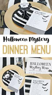 Halloween Mystery Dinner Party Free Menu The Crafting Chicks