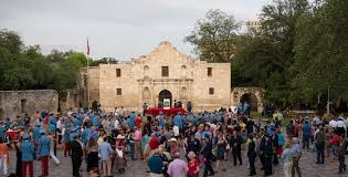 alamo and plaza restoration project continues to evolve a bustling day at the alamo during fiesta photo by scott ball