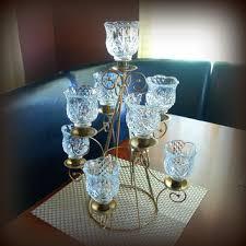 ornate vintage regency table centerpiece elegant crystal cut gla