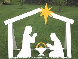 diy outdoor nativity building steps with templates