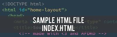 Sample HTML File Index.html