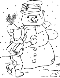 Snowman Winter Coloring Pages Coloring Pages For Kids Free
