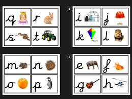 alphabet picture cards cursive alphabet and picture flash cards letters eyfs by imoosepa