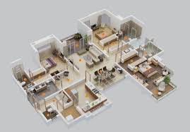 50 Three 3 Bedroom Apartment/House Plans