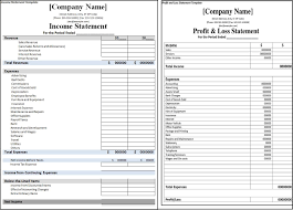 Statement Of Profit And Loss Printable Profit And Loss Statement Format Excel Word Pdf
