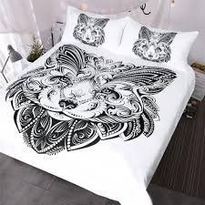lion bedding set queen black and white duvet cover animal home textiles erfly shape face printed bed set fieldcrest bedding black comforter sets queen