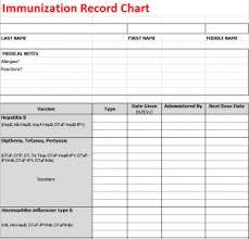 Printable Immunization Record Chart Immunization Record Chart