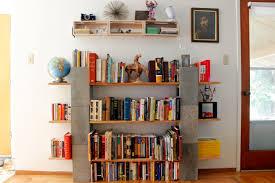 3 tier brown wood and cinder block shelves for diy shelves idea