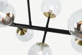 globe pendant chandelier wide black