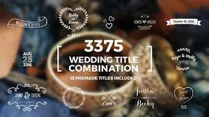Wedding Title Template Elegant Wedding Title Combination Pack After Effects Template