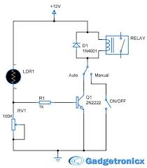 parking lights circuit diagram schematic or electronic design parking lights circuit diagram schematic or electronic design using ldr transistor lamp and relay building a simple diy garage parking lamp from y
