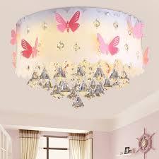 Moderne Deckenlampe Kristall Anhänger Prinzessin Mädchen Kinderzimmer Warm Romantische Hochzeit Zimmer Schlafzimmer Schmetterling E27 Lampen Runde