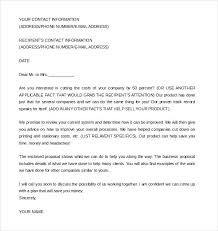 Letter To Business Template Sample Proposal Cover Letter Business Template Of Skincense Co
