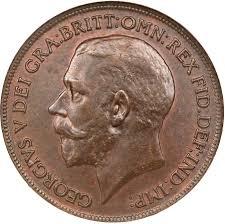 1919 S Penny Value Chart 1 Penny George V United Kingdom Numista