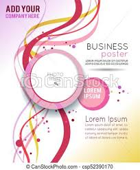 Magazine Cover Design Layout Template Abstract Vector Background