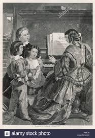 family sing at piano