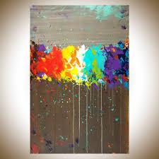 fireworks by qiqigallery 36 x24 original modern abstract wall paintings modern abstract painting colorful