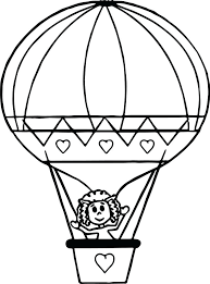 balloon coloring page cute drawing air balloon coloring page free printable pages kids preschool hot air balloon coloring page